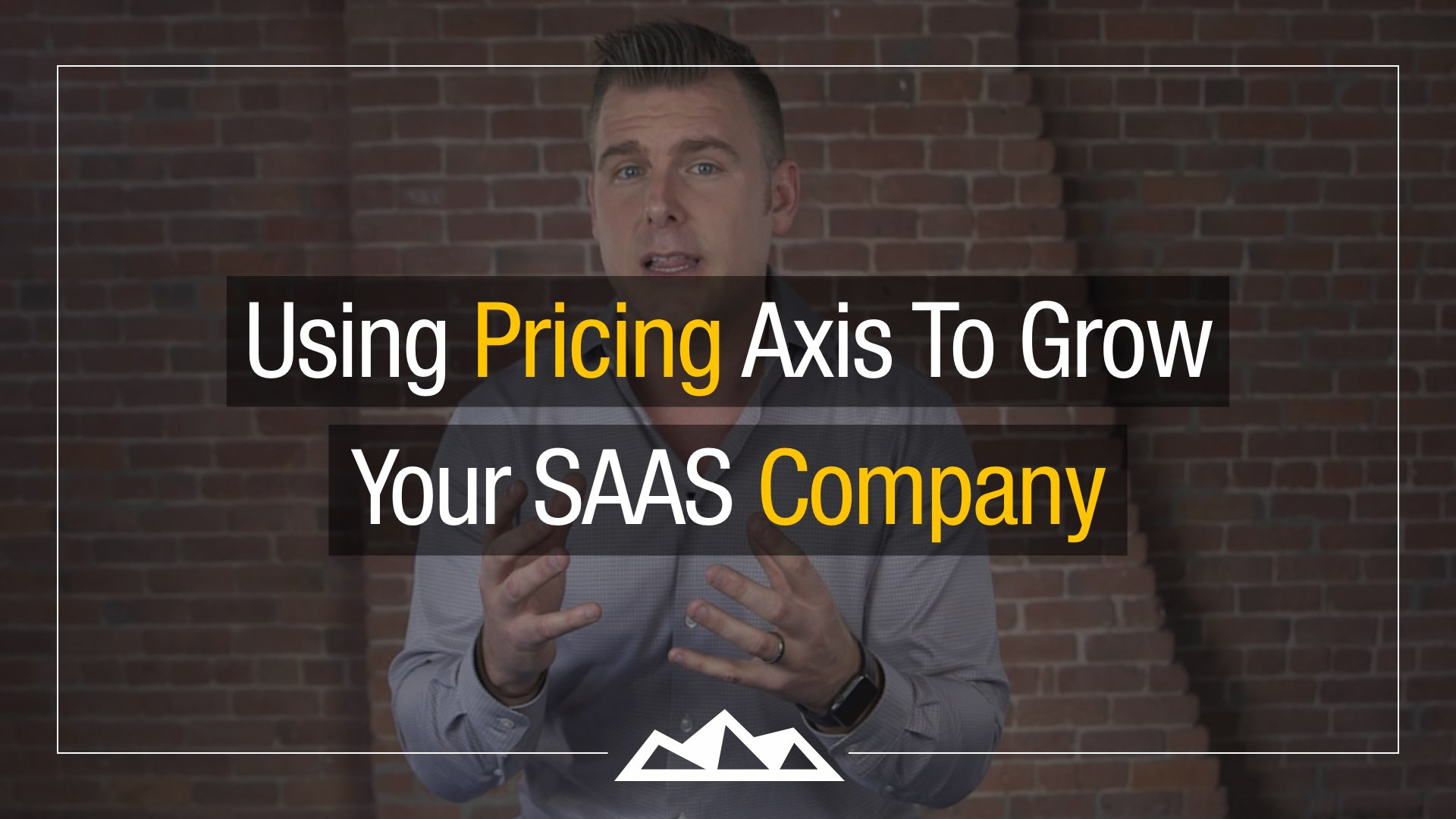 Using Pricing Axis To Grow Your SAAS Company - by Dan Martell